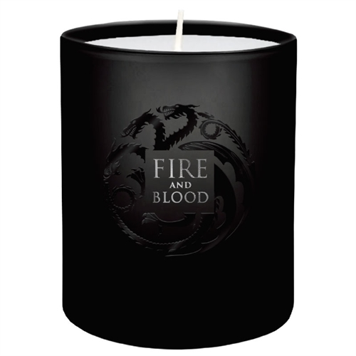 game of thrones fire and blood kerze im glas trading goblin. Black Bedroom Furniture Sets. Home Design Ideas