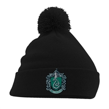 Harry Potter - Slytherin Crest, Pom-Pom Beanie