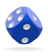 Oakie Doakie Dice - W6 Set, Blau